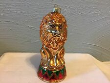"Santa's Best European Glass"" LION"""" Ornament Mouth Blown Handcrafted 1996"