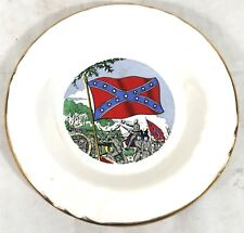 Vintage Porcelain Southern Plate Collector Made in Usa Warrant #A36