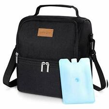Lifewit 7L Dual Compartment Insulated Lunch Bag with Ice Pack