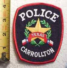 CARROLLTON TEXAS POLICE PATCH (STATE POLICE, HIGHWAY PATROL, SHERIFF)