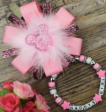 Personalizado impresionante Cochecito encanto en Leopardo Rosa para Bebé Niños Niñas