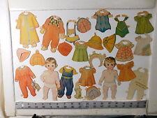 Dionne Quintuplets babies original Set vintage paper dolls 1935 quintuplets