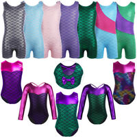Girls Kids Ballet Dance Leotard Gymnastics Dancewear Mermaid Bodysuit Costume