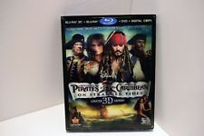 PIRATES OF THE CARIBBEAN ON STRANGER TIDES 3D BLU RAY DVD 5 Disc