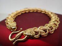 18 K jaune or massif largeur 12mm brident chaîne womens mens bracelet 8' 21 cm