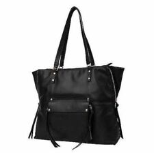 KOOBA Black Genuine Leather Tote Large Women's Handbag Shoulder Purse, NEW