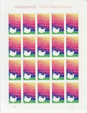 WOODSTOCK 50TH ANNIVERSARY STAMP SHEET -- USA 5409 FOREVER 2019 MUSIC