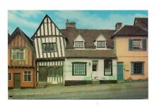 Suffolk - Lavenham,The Crooked House - Postcard Franked 1989