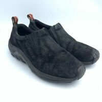 Merrell Jungle Moc Midnight Womens Comfort Shoes Black Slip On Air Cushion 9