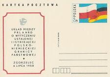 Poland prepaid postcard (Cp 761) Polen - DDR flag