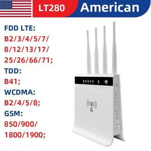 AT&T Verizon T-Mobile US Sim Card LTE 4G Router Unlocked Mobile WIFI Hotspot