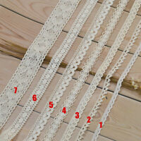 5 Yards Beige Sewing Lace Trim Ribbon Cotton Crochet Sewing Fabric DIY Craft