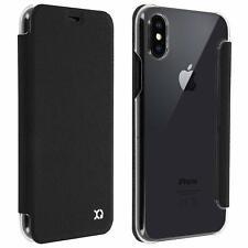 Xqisit Flap Cover Case Pouch Ardour for iphone X Black