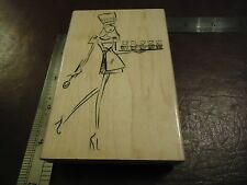 CUPCAKE LADY RUBBER STAMP MIXED THEMES NEVER USED FANCY MAID MODELING IN HEELS