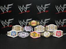 10 x Custom WWF WWE Womens Title Belts For Hasbro Mattel Retro Wrestling Figure