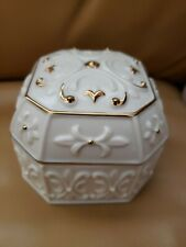 Lenox Porcelain Musical Jewelry Box - 10k Gold Accents