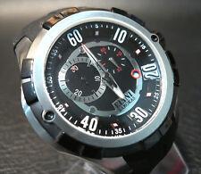 Elini Barokas 'Trespasser' Rare Black & Silver Men's Swiss ISA Chronograph Watch
