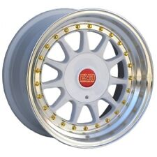 "16x8 White 16"" ESM-003R Wheels  5x112 VW Audi Mercedes Golf Jetta"