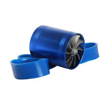 Aluminum Alloy F1-Z Double Car Turbine Turbo charger Air Intake Fuel Saver Fan
