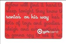 2002 Target Christmas Santa's On His Way Gift Card No $ Value Collectible Used