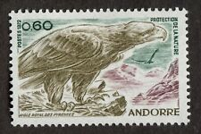 Andorra (French): Nature Protection, Golden Eagle; single mint stamp