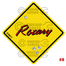 ROTARY STICKER for RX2 RX3 RX4 RX7 RX8 R100 - STREET SIGN ROTARY #08
