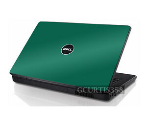 GREEN Vinyl Lid Skin Cover Decal fits Dell Inspiron 1545 1546 Laptop