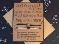 Wish Bracelet / Distance Bracelets / Missing You / Me and You / Gift
