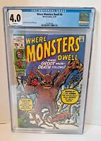 WHERE MONSTERS DWELL #6 by Marvel CGC 4.0 VG (1970) REPRINTS 1st GROOT