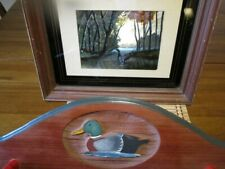 Handcrafted Duck Hunters Hat/Coat Rack and Edward Ward Dufex Foil Framed Print