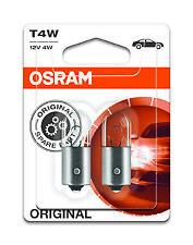 10x Osram T4W 4W BA9S 12V x10 Parking number plate light Bulbs Lamps