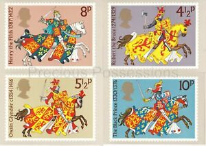 GB PHQ CARD USED REAR FDI NO. 7 1974 MEDIEVAL WARRIORS GREAT BRITONS MARKED