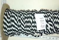 WW1 Preussen braided cord Freiwilliger   black-white braided 4mm   80 cm    #181