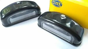 NEW Hella License Plate Lamp Number Light Universal Retro Car Oldtimer 2pcs SET