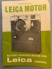 Leica M Motor Instruction Manual in english Mint condition