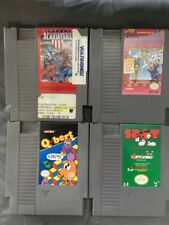 NES 4 pack games: American Gladiators, Trick Shooting, Q-bert, Spot w/SLEEVES!
