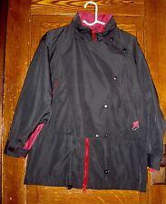 Eddie Bauer Women's Red Black Parka Hood Vintage