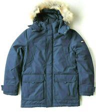 Tommy Hilfiger Mens Long Parka Jacket with Faux Fur Hood,...