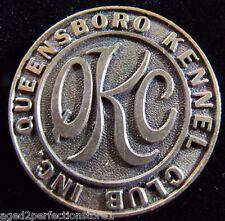 Old QUEENSBORO KENNEL CLUB Medallion DIEGES&CLUST NEW YORK high relief desk art