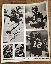 Terry Bradshaw 8X10 Autographed Photo HOF Pittsburgh Steelers