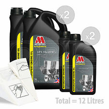 Car Engine Oil Service Kit / Pack 12 LITRES Millers NANODRIVE CFS 10w60 NT 12L
