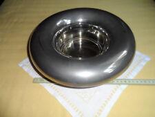 Centrotavola in acciaio inox anni '70, vintage. Diametro cm. 29, alto cm. 10