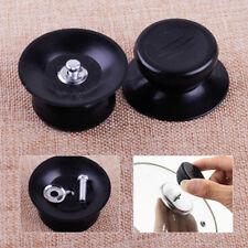 2pcs Black Pot Lid Knob Replacement Handle Handgrip Cookware Kitchen Pan Holding