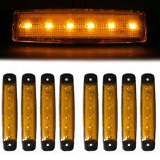 8 Pcs Amber Lights 6 LED Side Marker Lamps 24V Waterproof Fits Trailer Caravan
