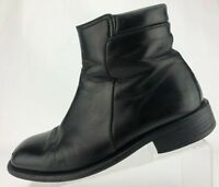 Bally Sabo Ankle Boots Black Leather Zipper Comfort Mens Size 8.5 D US 7.5 UK