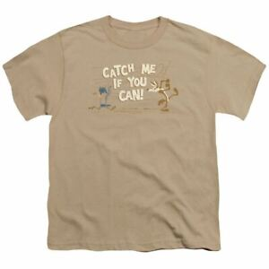 Looney Tunes Catch Me Kids Youth T Shirt Licensed Daffy Duck Cartoon Tee Sand