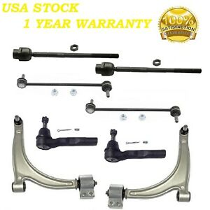 Front Control Arm & Ball Joint & Tie Rod Ends Fit CHEVY MALIBU 2004-2010