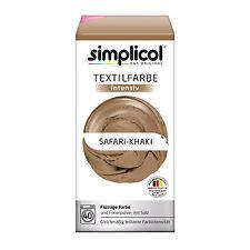 SIMPLICOL Textilfarbe INTENSIV all in 1 SAFARI KHAKI Farbe incl. Fixierpulver