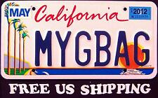 "FREE US SHIP "" CALIFORNIA "" ARTS SUN PALM TREE CA Vanity SPECIALTY License Plate"