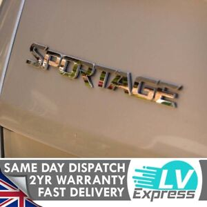 Chrome Car Badge Tailgate Boot Rear 260x25mm Compatible with Sportage Mk1
